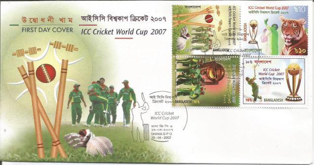 BANGLADESH 2007 WC FDC