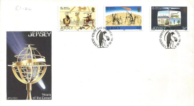 JERSEY FDC HALLEY'S COMET