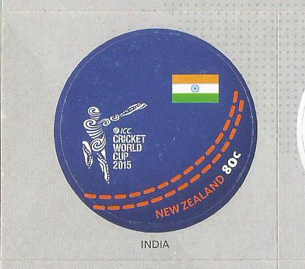 NZ STAMP INDIA 2015 WC