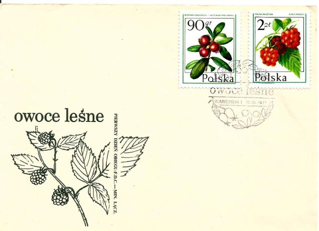 POLAND FDC FRUIT 2ZL