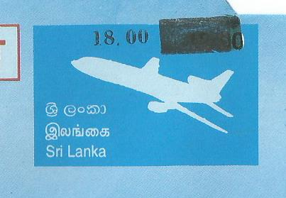 SRI LANKA AEROGRAMME BANK OF CEYLON OVPT