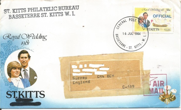 ST KITTS OFFICIAL STAMPS 55C