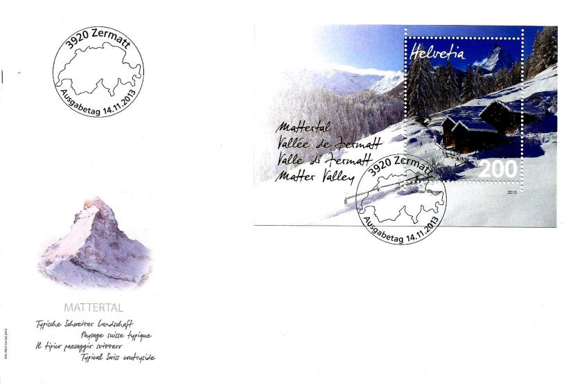 SWITZERLAND FDC MATTERAL