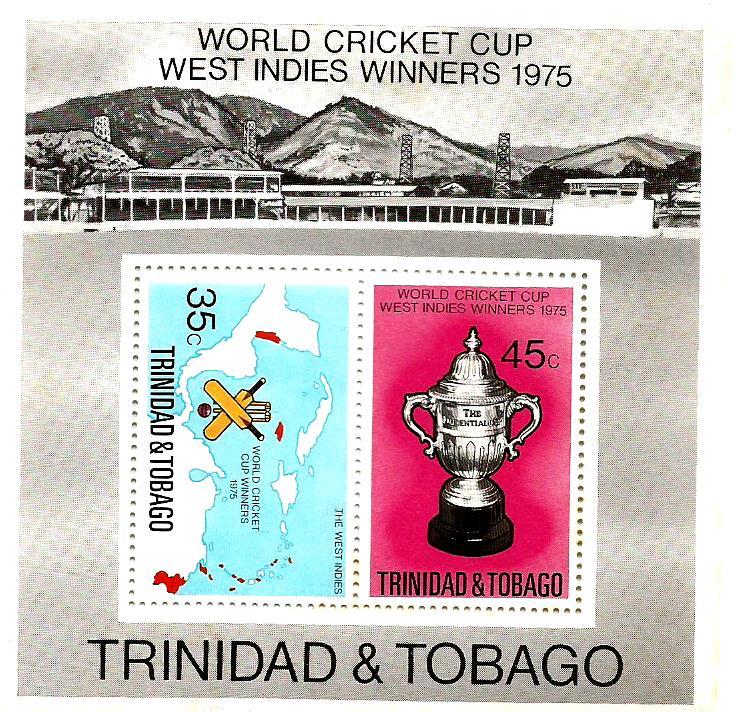 TRINIDAD & TOBAGO 1975 WC CRICKET