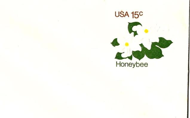 USA ENVELOPE HONEY BEE