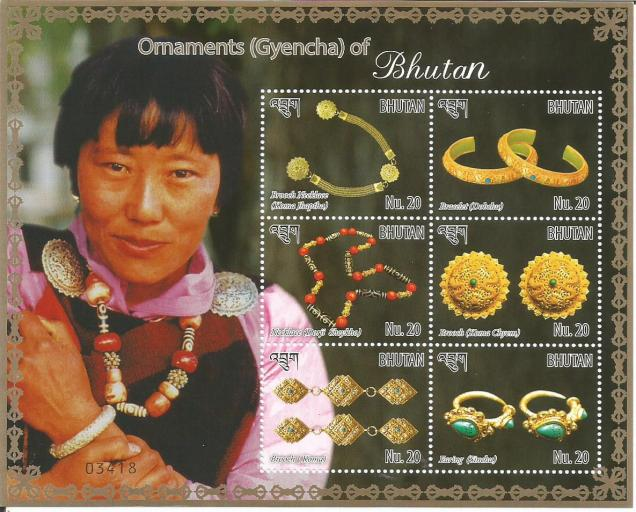 BHUTAN MS ORNAMENTS 6V