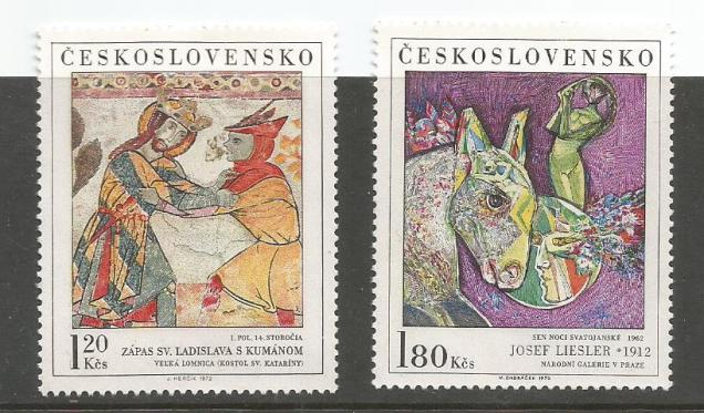 CZECHOSLOVAKIA PAINTINGS 1972