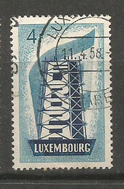 LUXEMBOURG EUROPA 1956