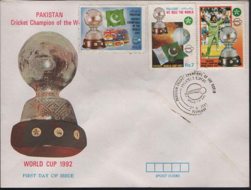 Pakistan FDC 1992 WC