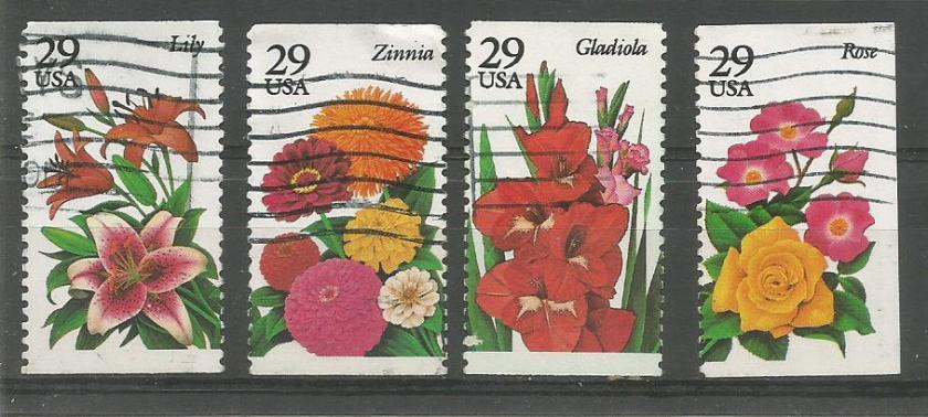 USA 29C 4V FLOWERS