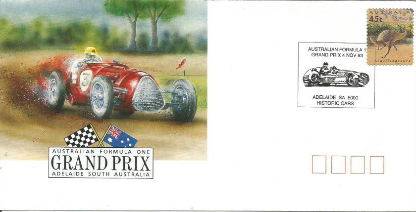 AUSTRALIA 1993 F1 CVR 1
