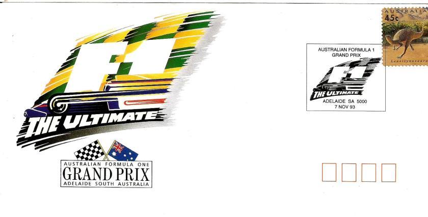 AUSTRALIA 1993 F1 CVR 4