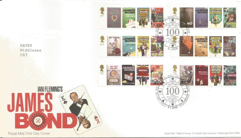 GB FDC JAMES BOND