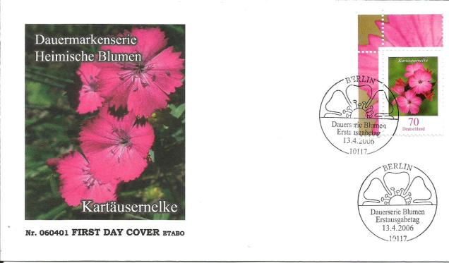 GERMANY FDC FLOWERS 1
