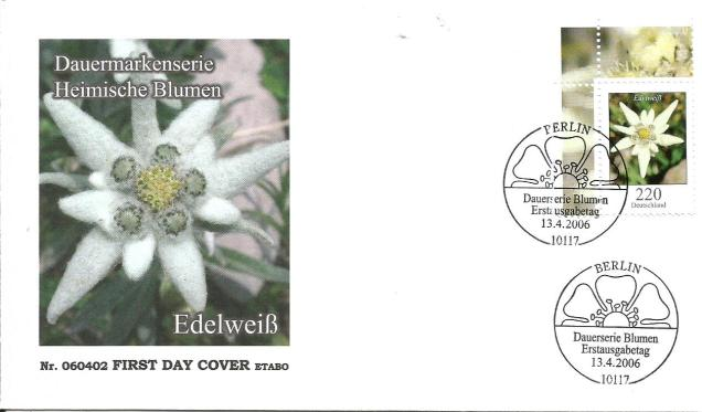GERMANY FDC FLOWERS 2