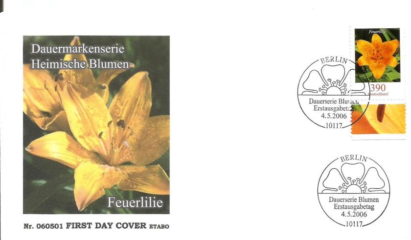 GERMANY FDC FLOWERS 3