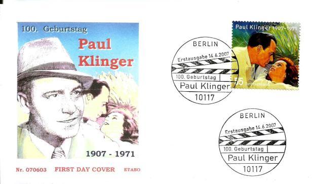 GERMANY FDC PAUL KLINGER