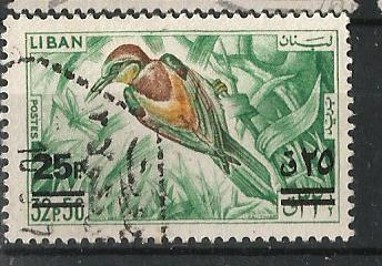 LEBANON 1965 BIRDS SURCH