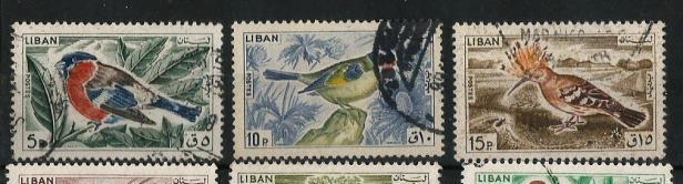 LEBANON 1965 BIRDS
