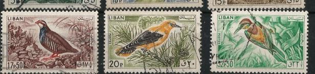 LEBANON 1965 BIRDS1