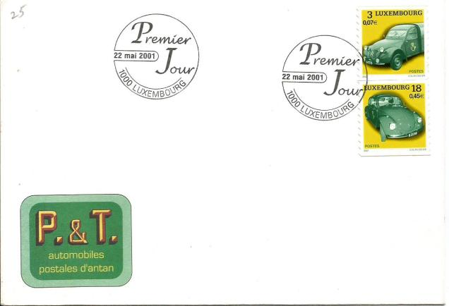 LUXEMBOURG FDC CARS