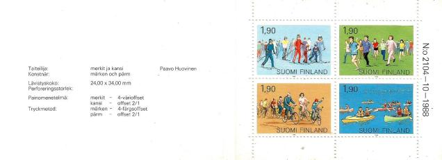 FINLAND BOOKLET SPORTS