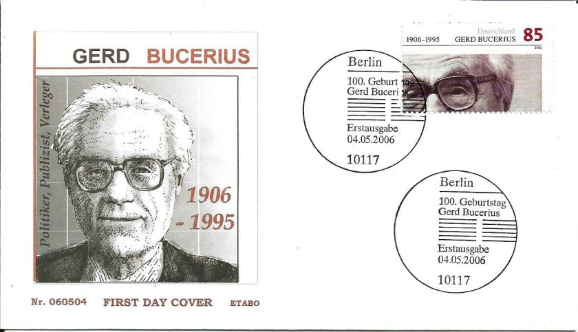 GERMANY FDC BUCERIUS