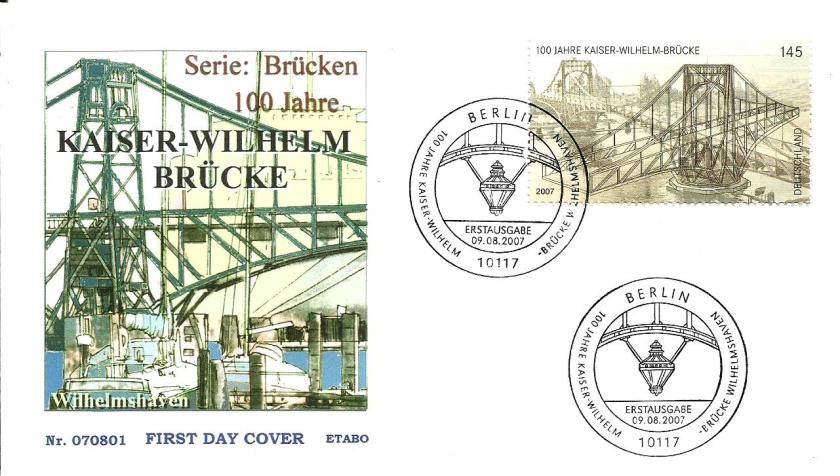 GERMANY FDC KAISER BRIDGE