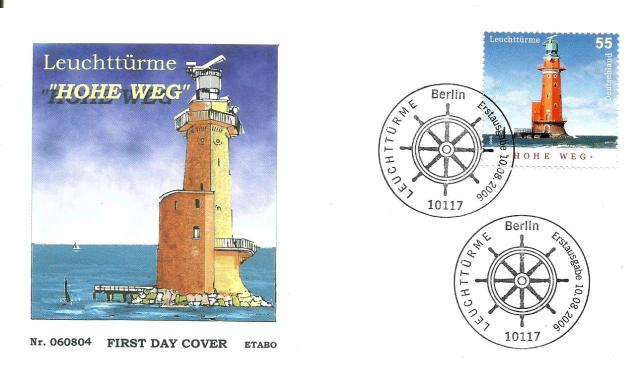 GERMANY FDC LIGHTHOUSE 55