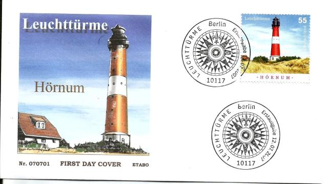 GERMANY FDC LIGHTHOUSE HORNUM