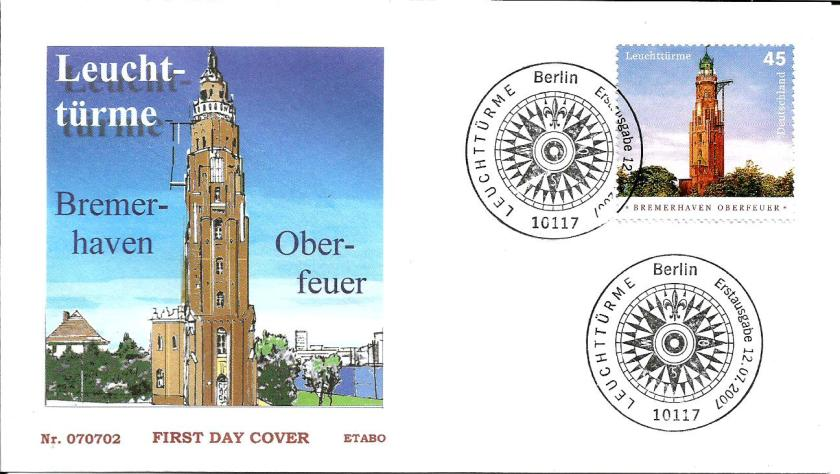 GERMANY FDC LIGHTHOUSE OBER