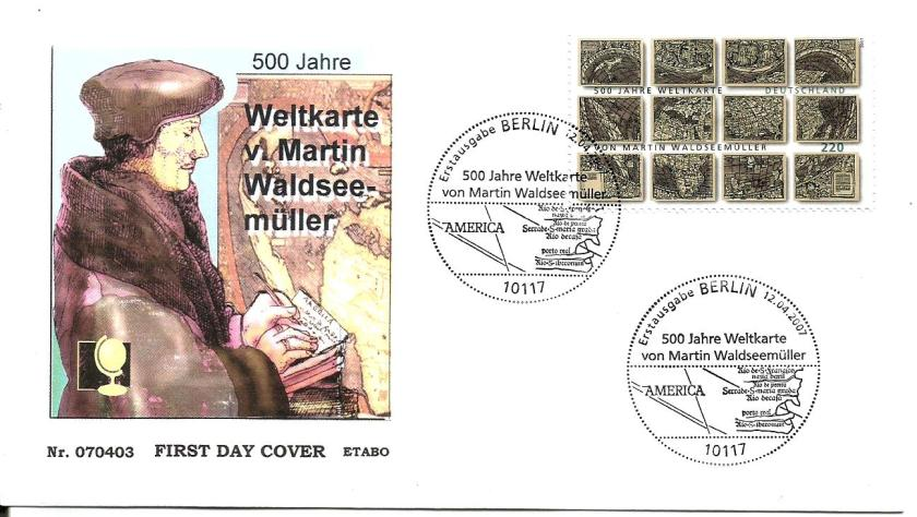 GERMANY FDC MARTIN MAP