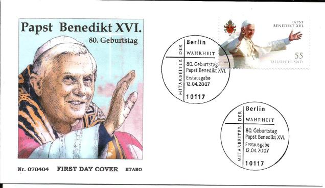 GERMANY FDC POPE