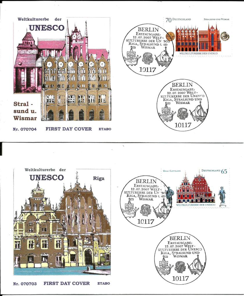 GERMANY FDC UNESCO