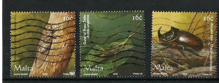 Stamps on Insects (3) -Malta 2005 – Stamp Digest