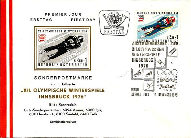 AUSTRIA FDC 1976 INNSBRUCK 3