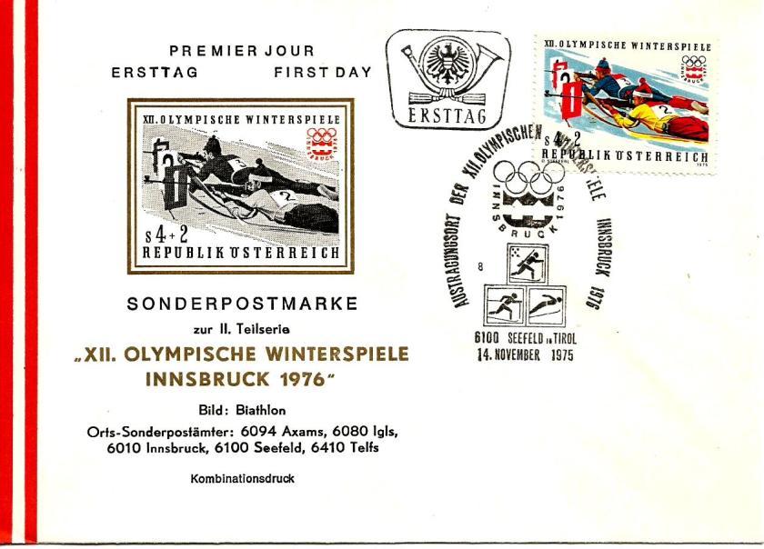 AUSTRIA FDC 1976 INNSBRUCK 4