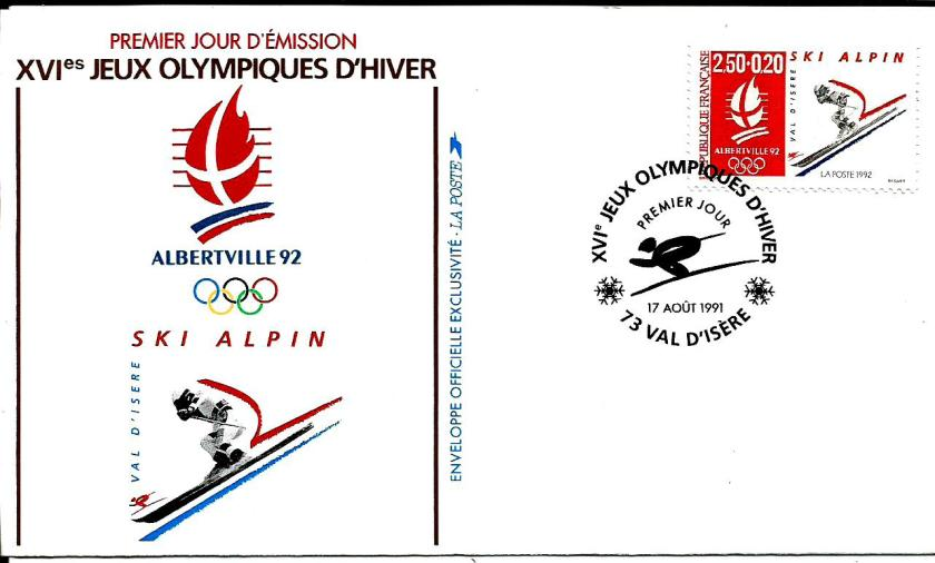 FRANCE 1992 W OLY 10 ALPINE