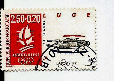 FRANCE 1992 W OLY 12 LUGE