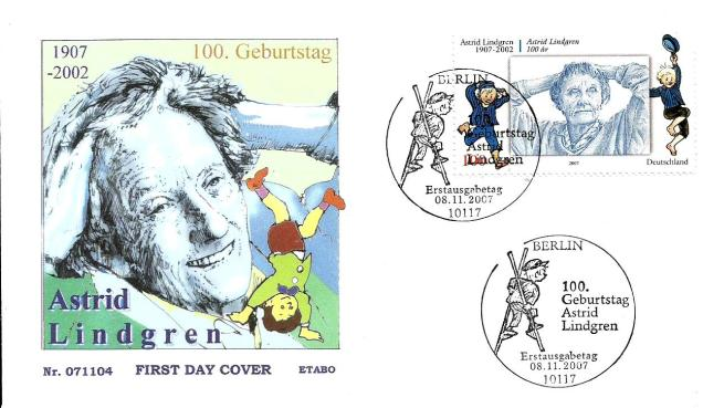 GERMANY 2007 -ASTRID LINDGREN