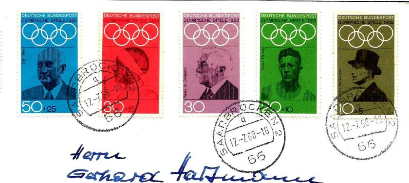 GERMANY 1968 OLYMPICS