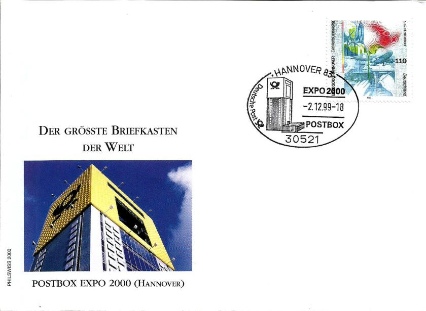 GERMANY HANOVER 2000 POSTBOX