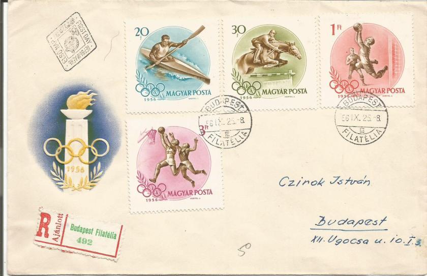 HUNGARY 1956 OLYMPICS