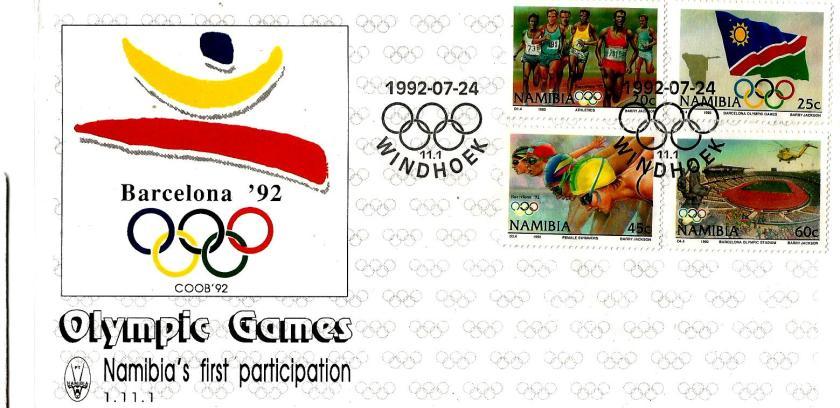 NAMIBIA 1992 OLYMPICS