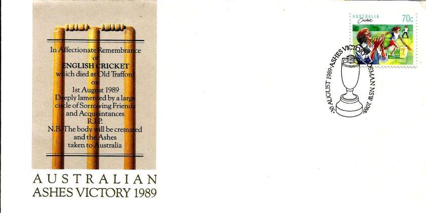 AUSTRALIA ASHES VICTORY 1989