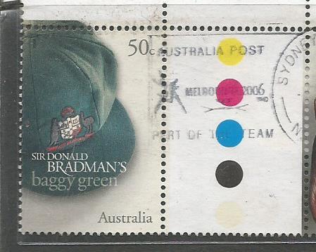 AUSTRALIA BRADMAN BAGGY GREEN 11