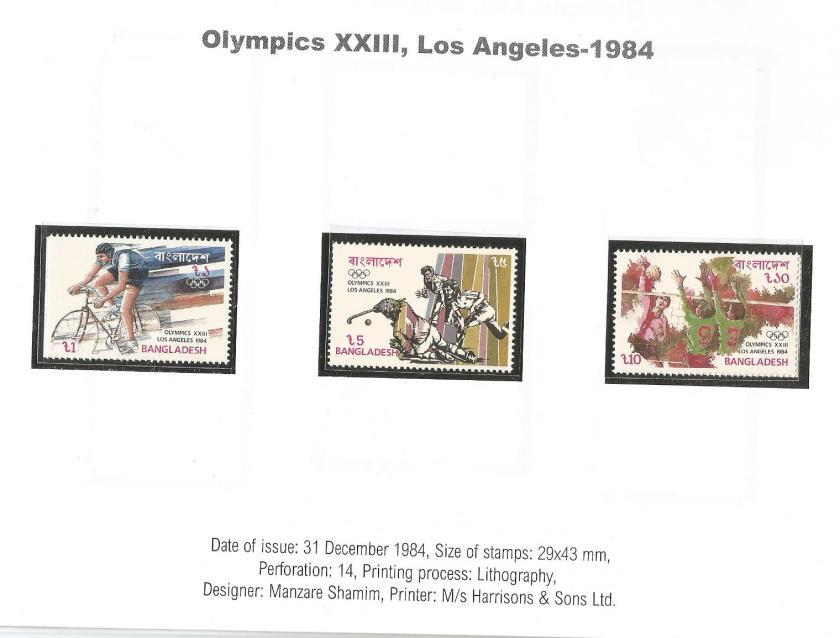 BANGLADESH 1984 OLYMPICS 1
