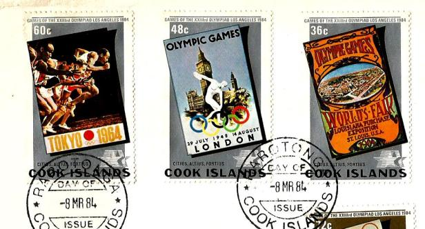 COOK ISLANDS 84 -OLY 1