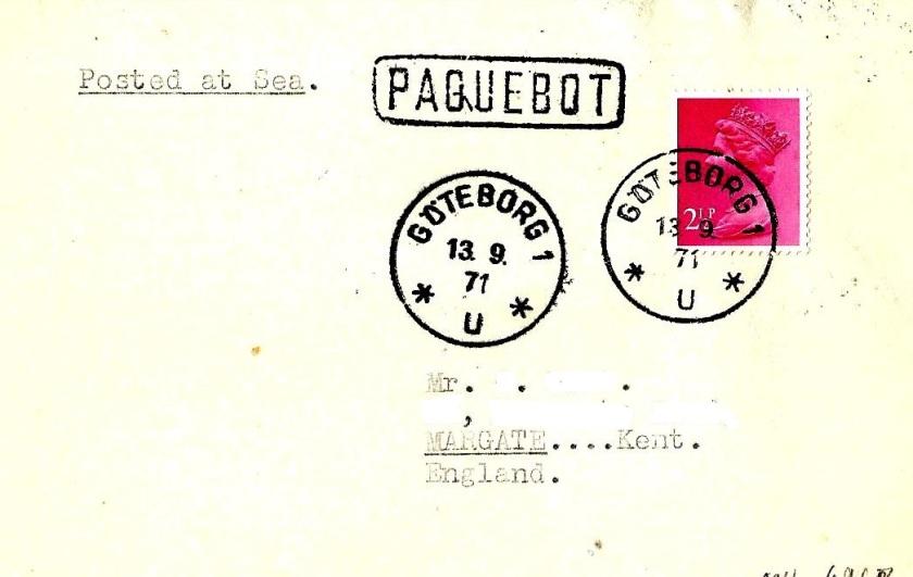 PAQUEBOT GB GOTEBERG