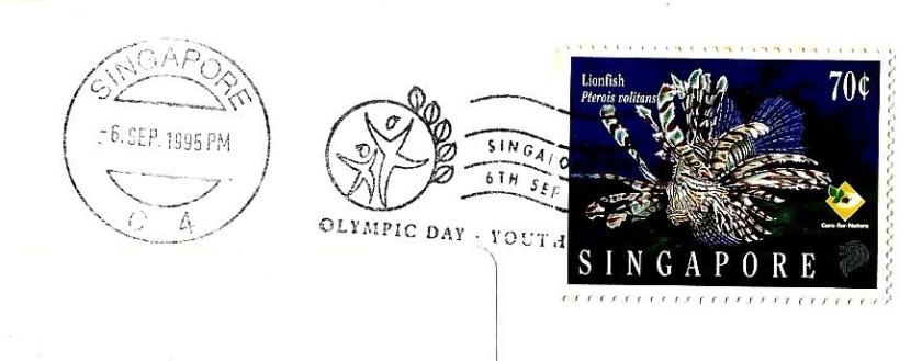 SINGAPORE 95 6 SEP CANC